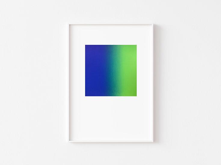 Electric Blue/Green Degrade Silkscreen Print