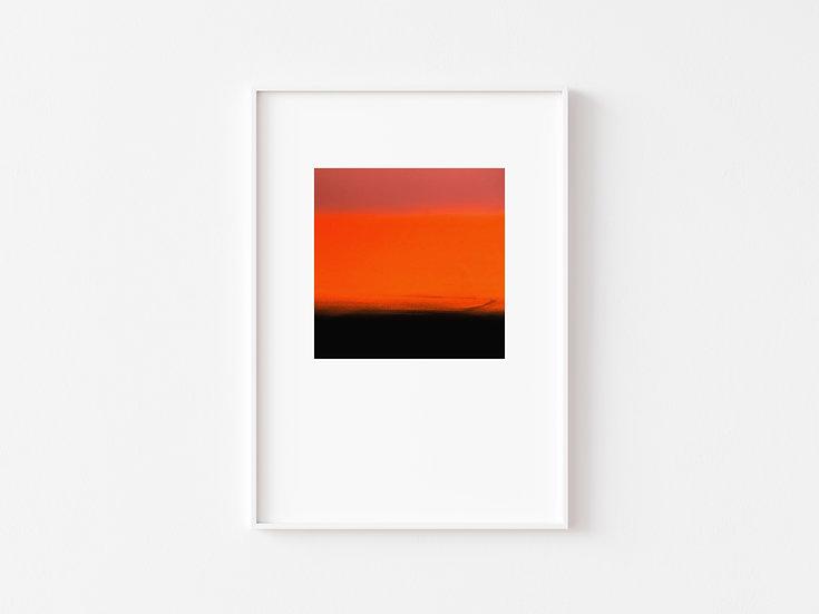 Pink/Orange/Black Degrade Silkscreen Print