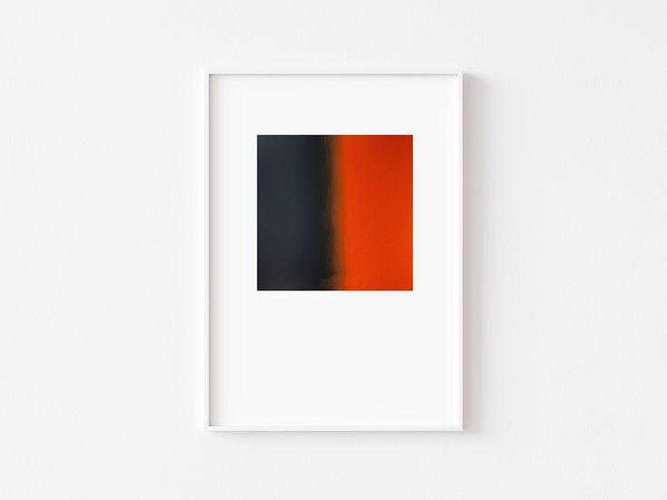 Dark Blue Black/Orange Degrade Silkscreen Print