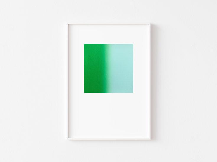 Grass Green/Sky Blue Degrade Silkscreen Print