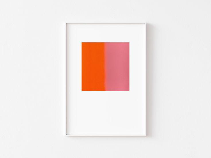 Baby Pink/Neon Orange Degrade SilkscreenPrint