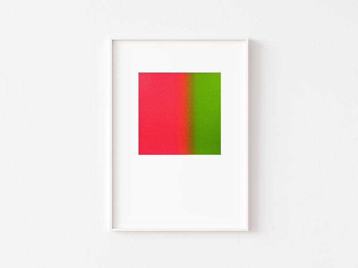 Neon Pink/Green Degrade Silkscreen Print