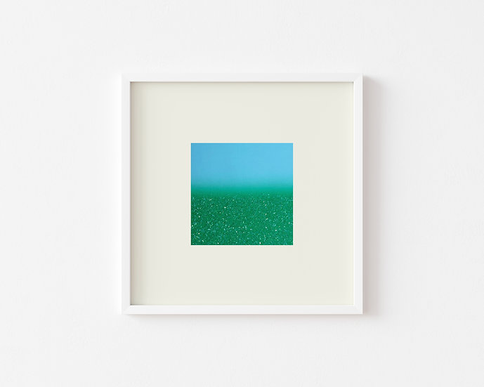 Mini Gradient Diamond Dust in Green/Sky Blue