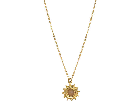 Collier Céleste quartz rose