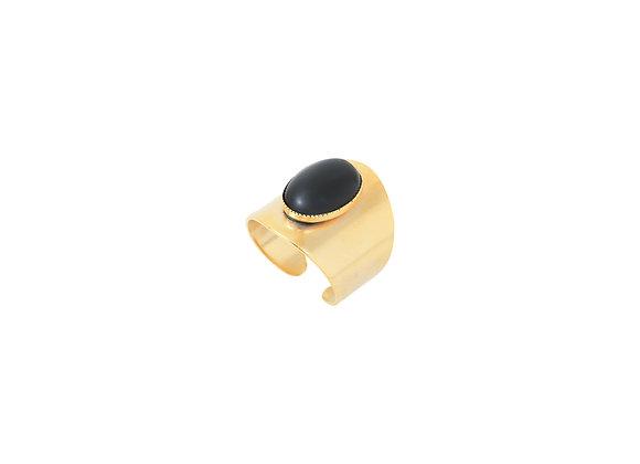 Bague Sarir agate noire