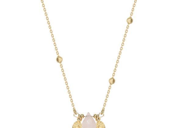 Collier Népal quartz rose
