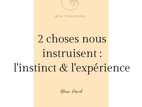 Intuition et expérience