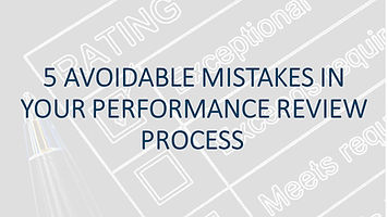 5 AVOIDABLE MISTAKES IN YOUR PERFORMANCE