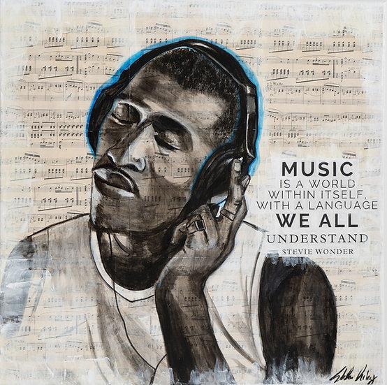 """Soul Music"" 24x24"