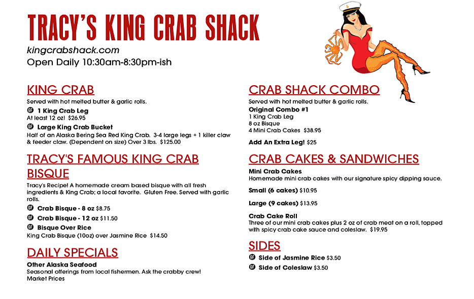 Get Crabs at Tracy's King Crab Shack in Juneau!