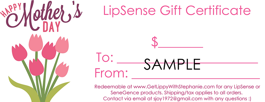 Mothers day lipsense gift certificates get lippy with to be shipped directly to you or your gift card recipient contact me for more information or to order sjoy1972gmail or text at 321 693 1846 yadclub Choice Image