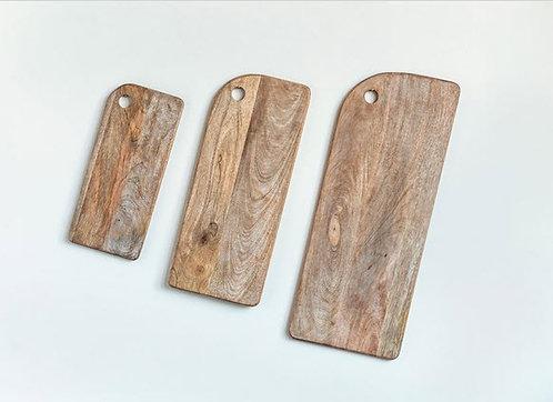 Mango Wood Cheese/Cutting Boards - Set of 3