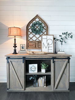 AE Custom Barn Door Console Table