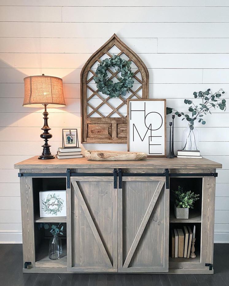 AE Custom Barn Door Console Table
