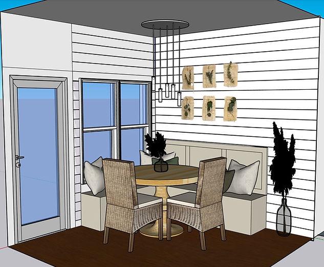 BW Dinning Nook 3D Design