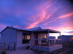 Cabin sunset new purple
