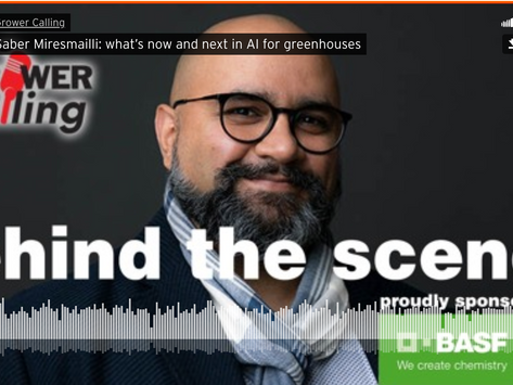 What's Now and Next in AI for Greenhouses: Dr. Saber Miresmailli on The Grower Podcast
