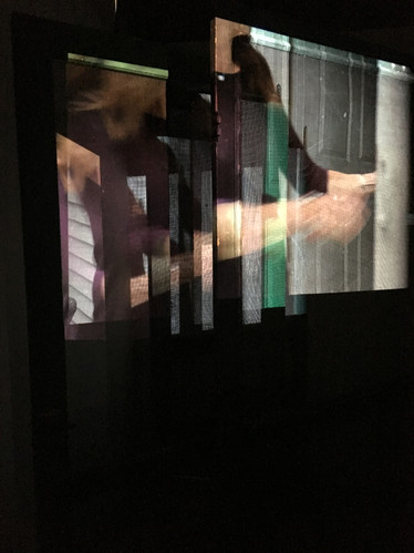 Still from the video of the installation This Way Through The Darkness.