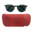 Thumbnail: Lenno - Glasses Case - Click to view more color options - Cow Leather