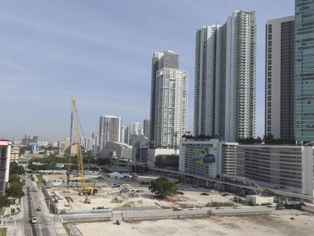 Downtown Miami on the rise