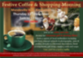 Flyer for Festive Coffee and Shopping Mo