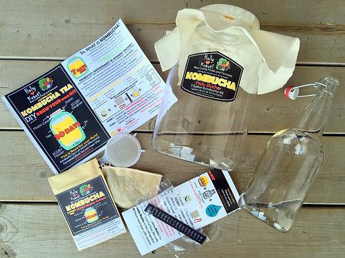 Caffeine FREE Kombucha and Bottle Kit - 1 Gallon