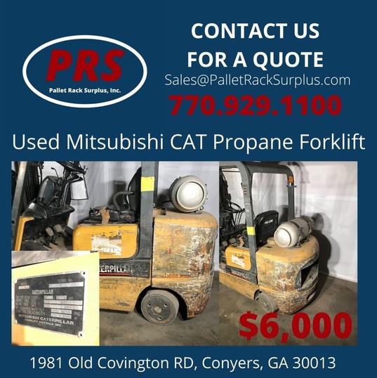 Used Mitsubishi Cat Propane Forklift