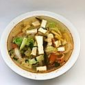 Soupe épicée au tofu et légumes / Spicy tofu and vegetables soup