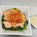 Salade wakamé et saumon grillé / Wakame salad with grilled salmon