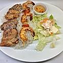 Poulet et crevettes grillés / Grilled chicken & shrimps