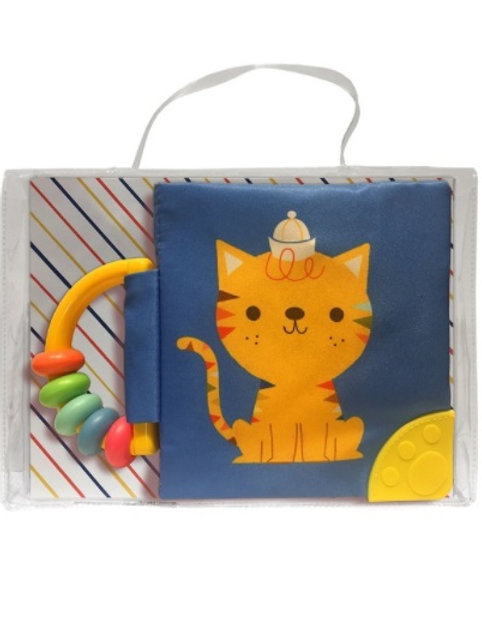 Mi libro suave con sonajero y mordillo: Gato