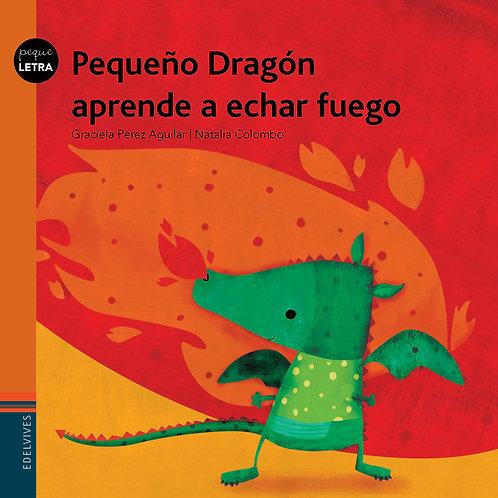 Pequeño dragón aprende a echar fuego