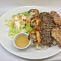 Poulet, boeuf & crevettes grillés / Grilled chicken, beef & shrimps