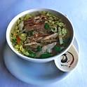 Soupe au poulet grillé et légumes / Grilled chicken and vegetables soup