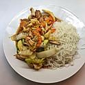 Poulet et légumes sautés / Chicken and vegetables sauteed