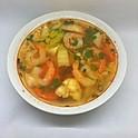 Soupe épicée au crevettes / Spicy shrimps soup