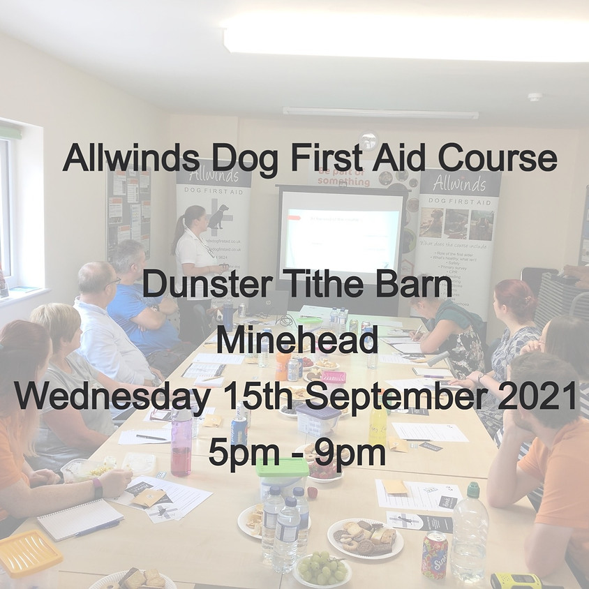 Allwinds Dog First Aid  - Dunster MINEHEAD