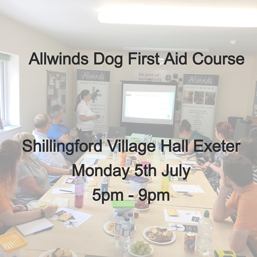 Allwinds Dog First Aid Exeter
