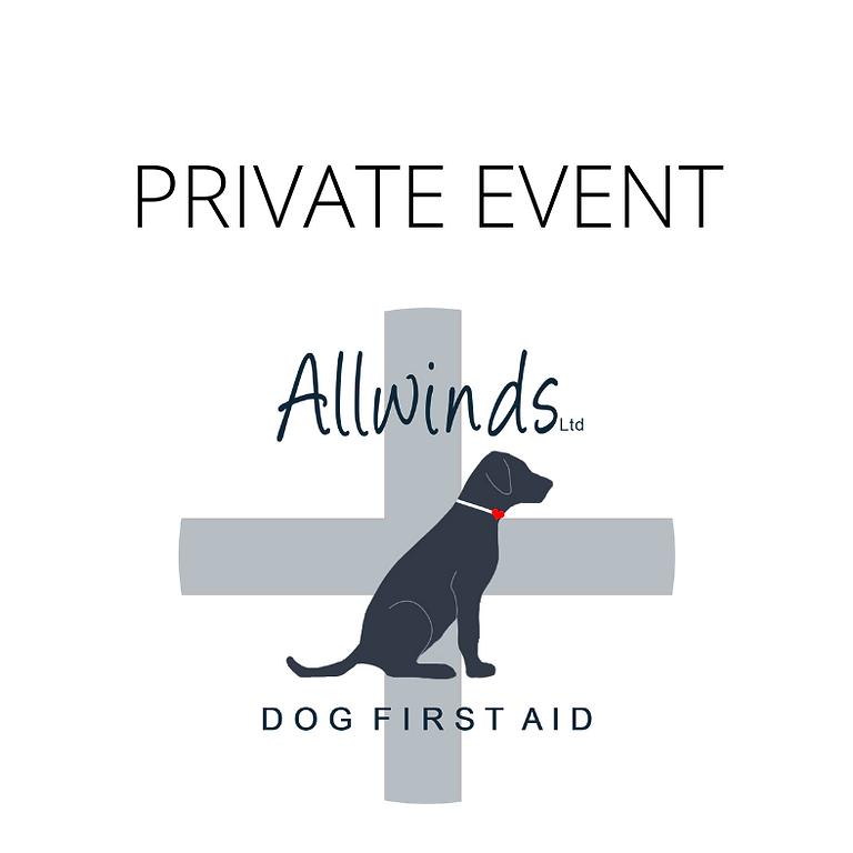Allwinds Dog First Aid - Wareham PRIVATE EVENT