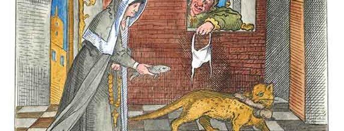 Nun Chasing Cat