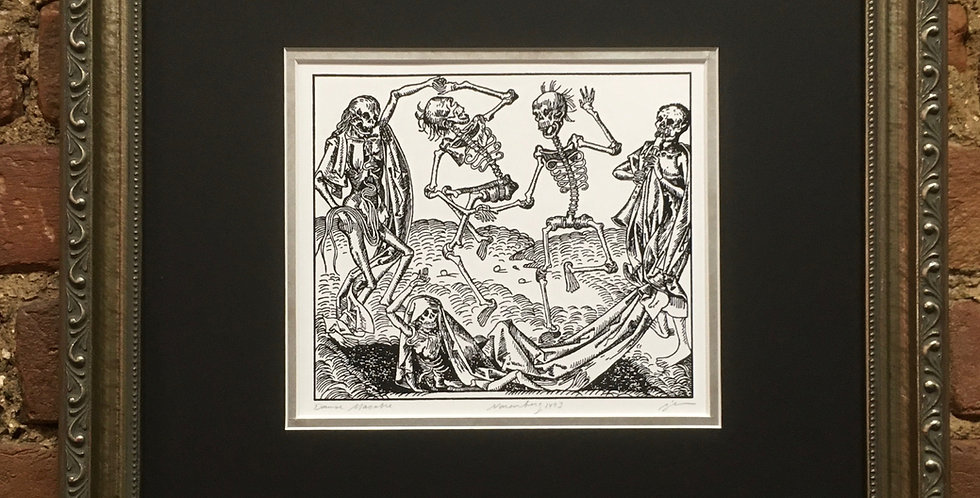 Danse Macabre (choice of black ink or colored)