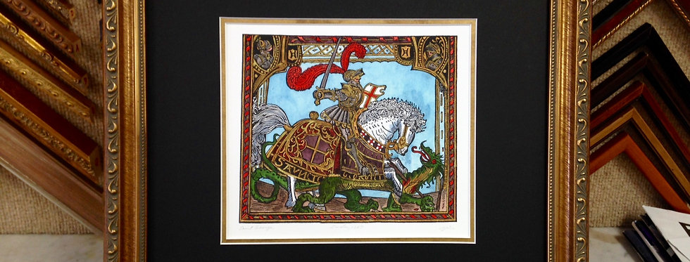 Saint George (choice of colored or Black ink)