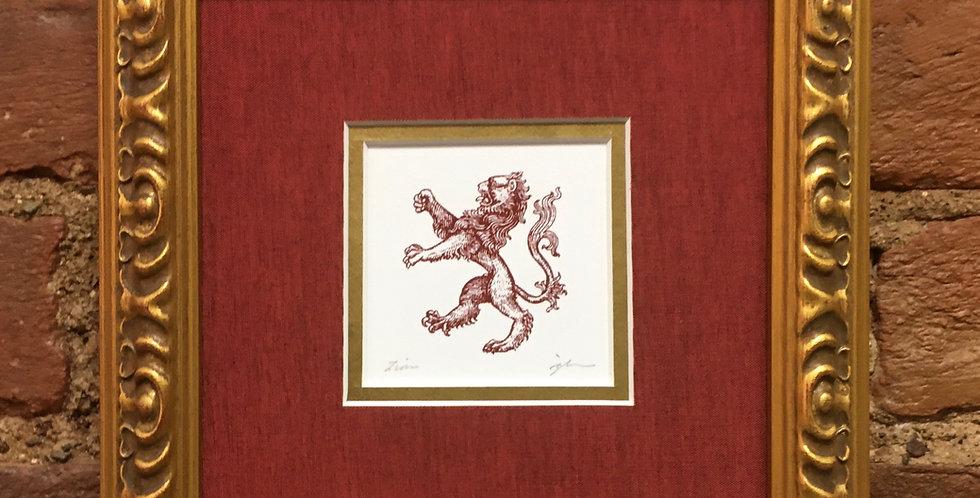 Lion Heraldic Crest