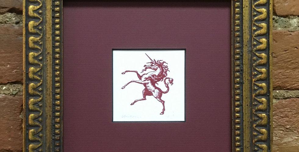 Unicorn Heraldic Crest