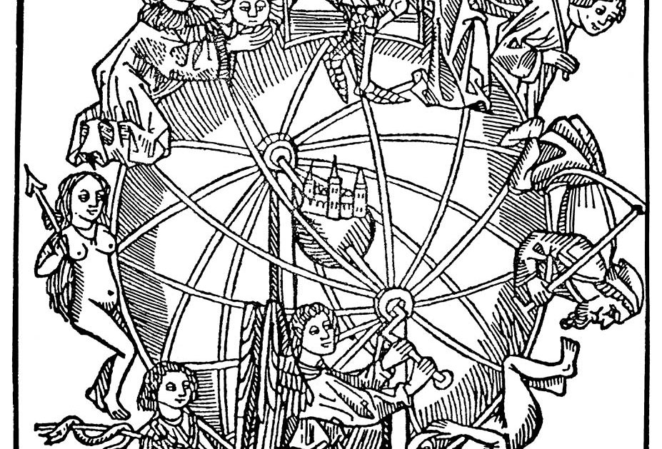 The Wheel of Fortune (black ink)