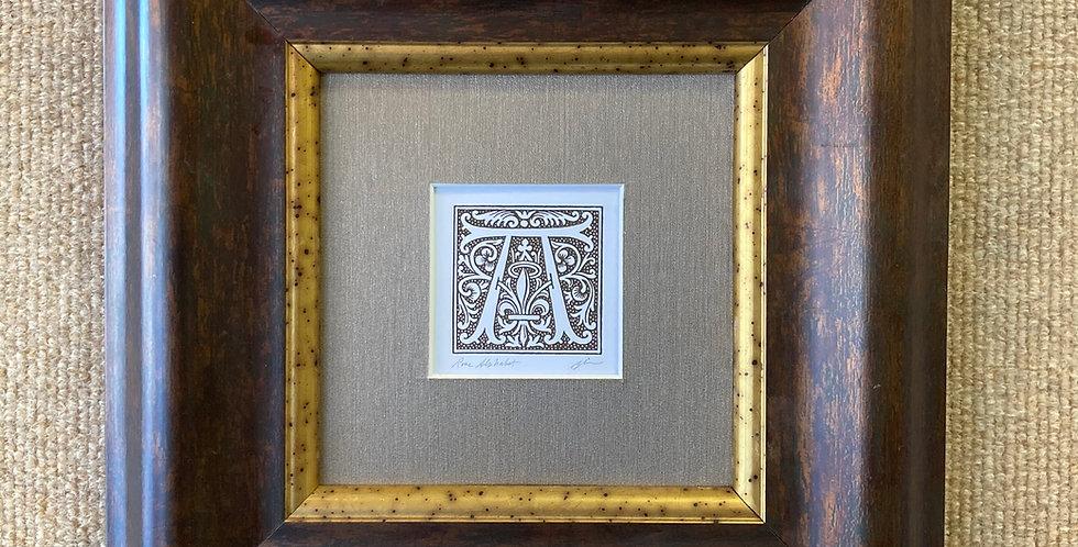 """Rose Alphabet """"A"""""""