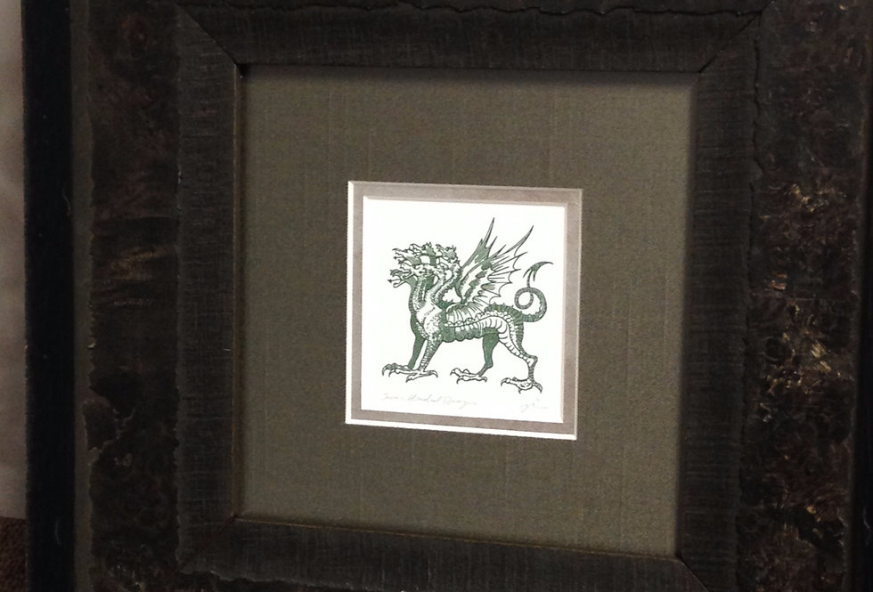 Seven-Headed Dragon Heraldic Crest