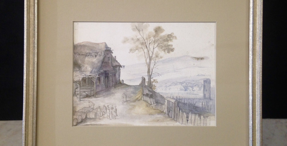Landscape with Inn and Fence