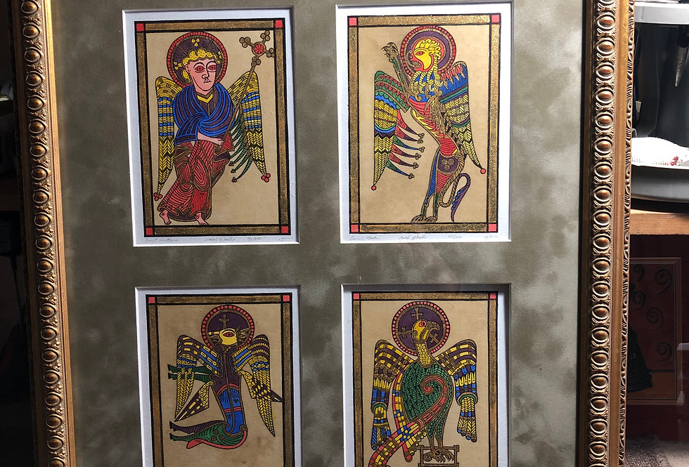 The Four Evangelists (Hand Colored)
