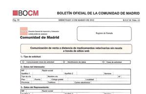 Publicaciones BOCM: Modelos telemáticos